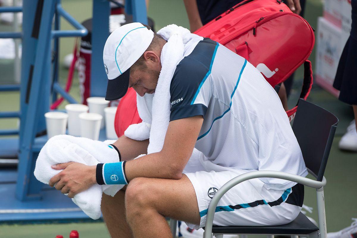 Pure Enttäuschung. Die Karriere von Gilles Muller endet mit einer dramatischen Niederlage.