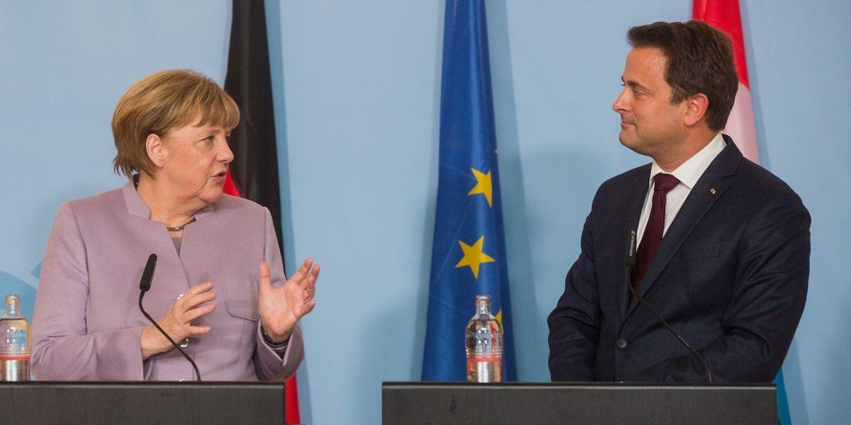 Visite officielle Angela Merkel, Xavier Bettel, Foto Lex Kleren