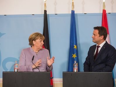 Official visit by Angela Merkel to Luxembourg with Xavier Bettel