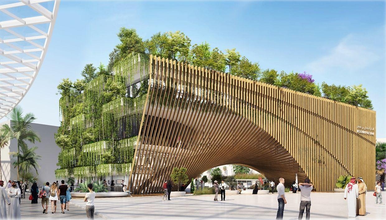 Le pavillon belge à l'Exposition universelle.