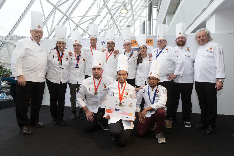 Die Nationalmannschaft aus Luxemburg wurde für ihre Kochkünste mit Bronze ausgezeichnet.