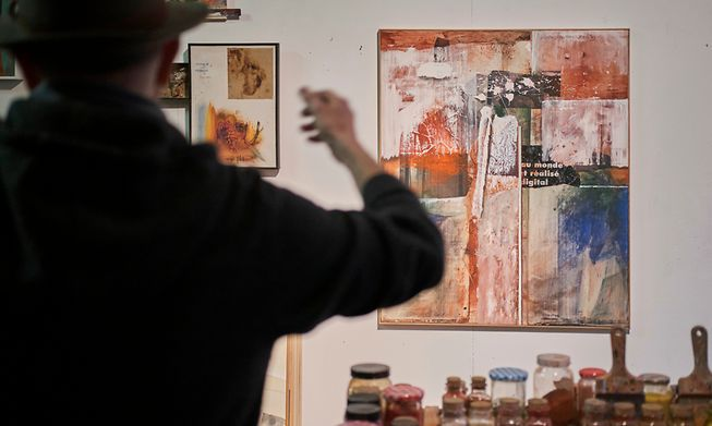 The artist in his atelier