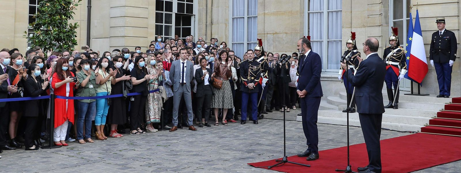 Jean Castex (rechts) ist Frankreichs neuer Premierminister.