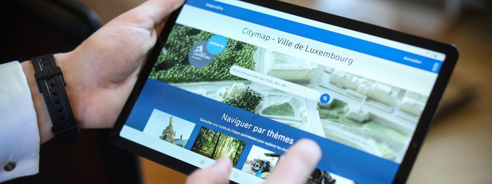 Ob Tablet, Handy oder Laptop: Citymap passt sich dem jeweiligen Gerät an.
