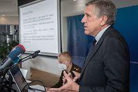 IPO,François Bausch invite à la présentation du projet d'acquisition des nouveaux véhicules de l'armée. Foto: Gerry Huberty/Luxemburger Wort