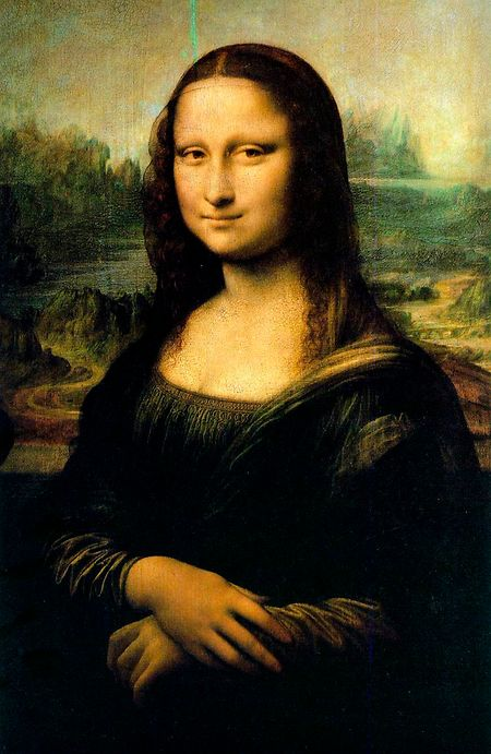 """Leonardo da Vinci malte seine Mon """"Madonna"""" Lisa um 1503-1506, heute residiert die Dame im Pariser Louvre."""