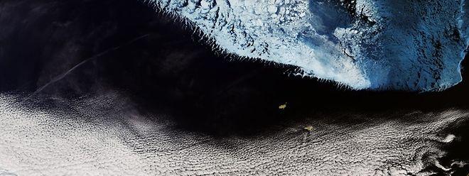 Die Beringsee, ein Randmeer zwischen Alaska und Russland, wurde am 18. Dezember 2018 Schauplatz eines Meteoriteneinschlags.