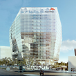 Le nouveau siège mondial d'ArcelorMittal dessiné par le cabinet français Wilmotte & Associés sera érigé juste à côté du Centre des congrès européens, le long de l'avenue J.-F. Kennedy.