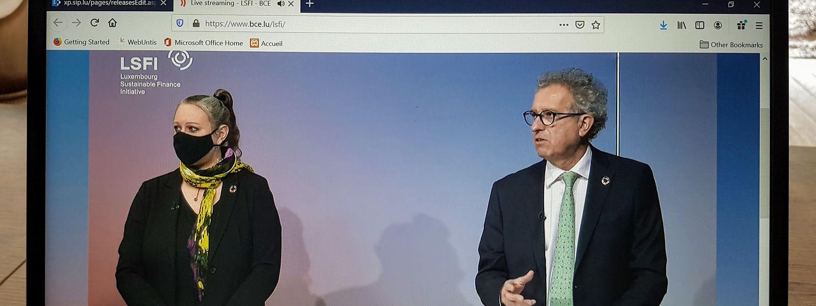 Umweltministerin Carole Dieschbourg und Finanzminister Pierre Gramegna: Das Ziel sei, aus Luxemburg eine internationale Drehscheibe für nachhaltiges Finanzwesen zu machen.