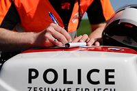 Blitzer-Marathon der Police, Polizei, Grand-Ducale, N13, Frisange, le 18 avril 2018. Photo: Chris Karaba