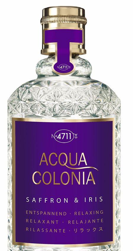 """Die Linie """"Acqua Colonia"""" zeichnet sich durch außergewöhnliche Duftkombinationen aus, so auch im Falle von """"Saffron & Iris""""."""