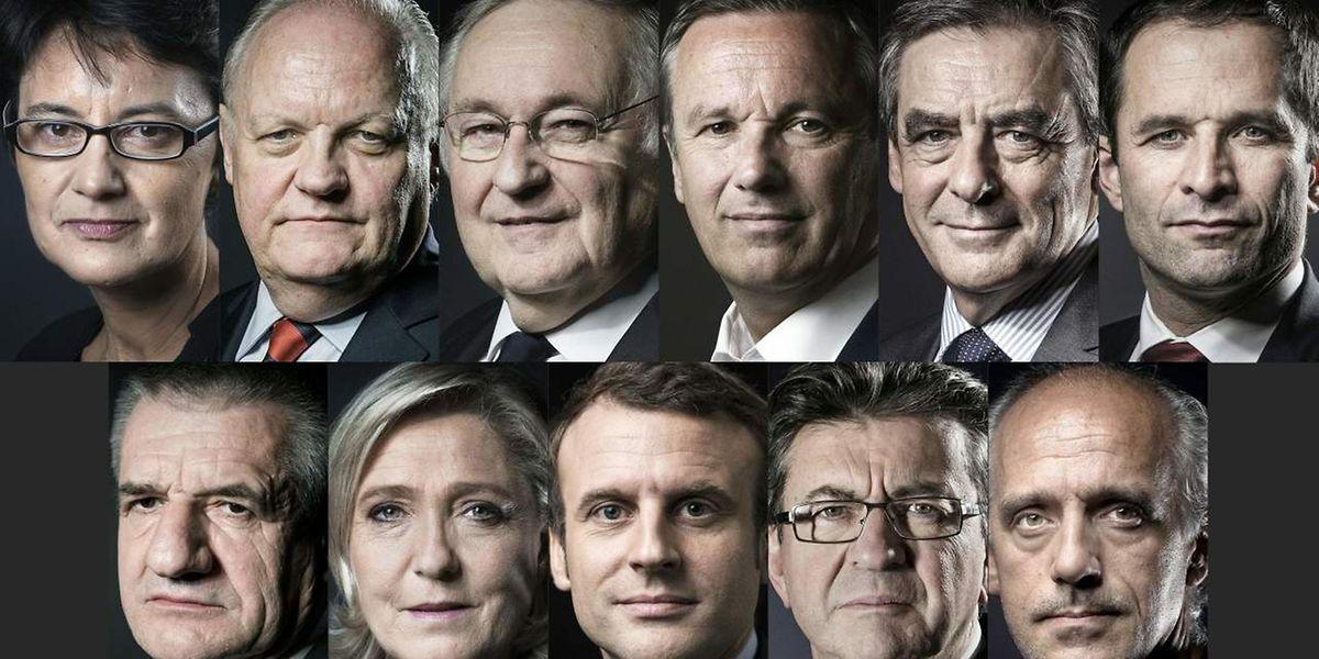 Elf Politiker treten als Kandidaten für das höchste Amt im Staate an.