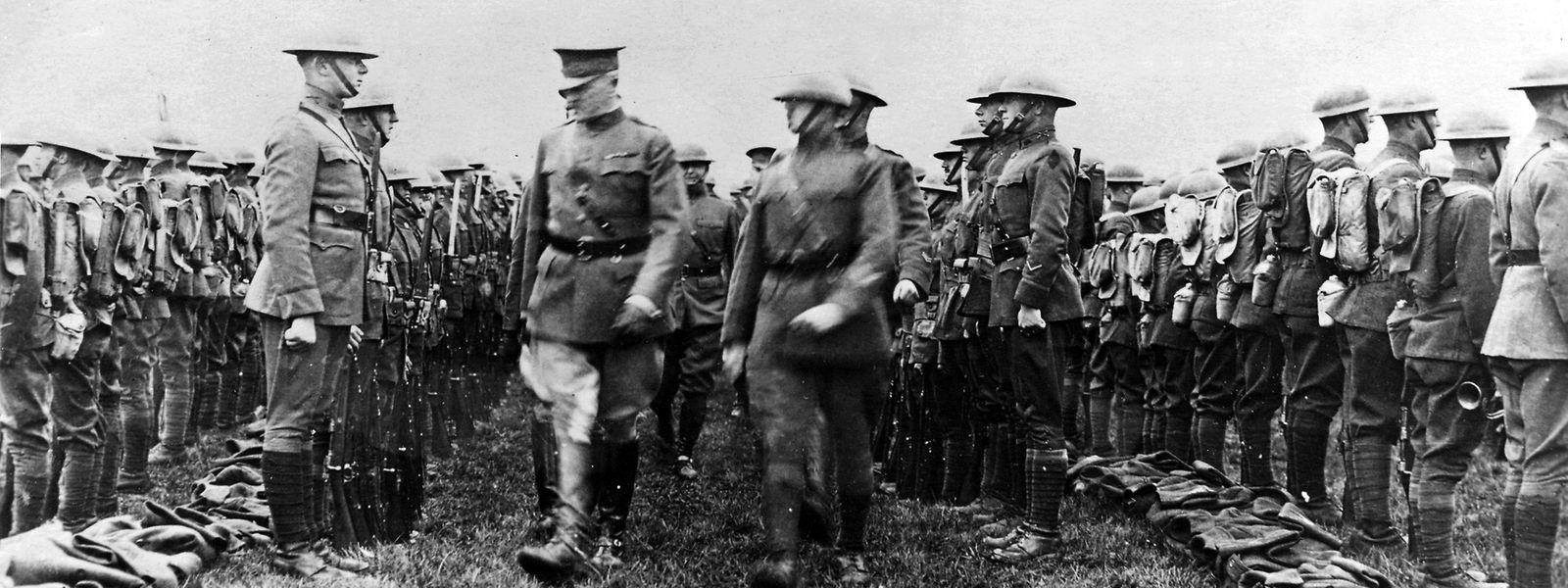 General John Pershing 1918 in Esch/Alzette