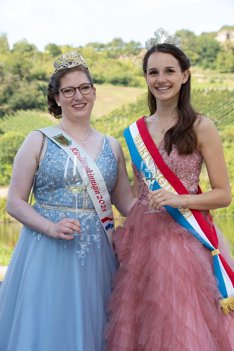 Rieslingkönigin Lara Kring, Weinkönigin Lee Risch und ihre Prinzessinnen durften nicht fehlen.