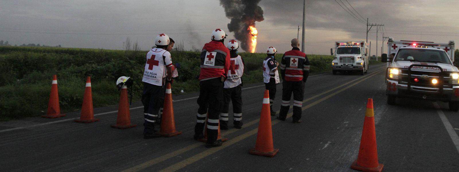 Immer wieder kommt es in Mexiko nach illeagalen Anzapfversuchen an Pipelines zu Explosionen.