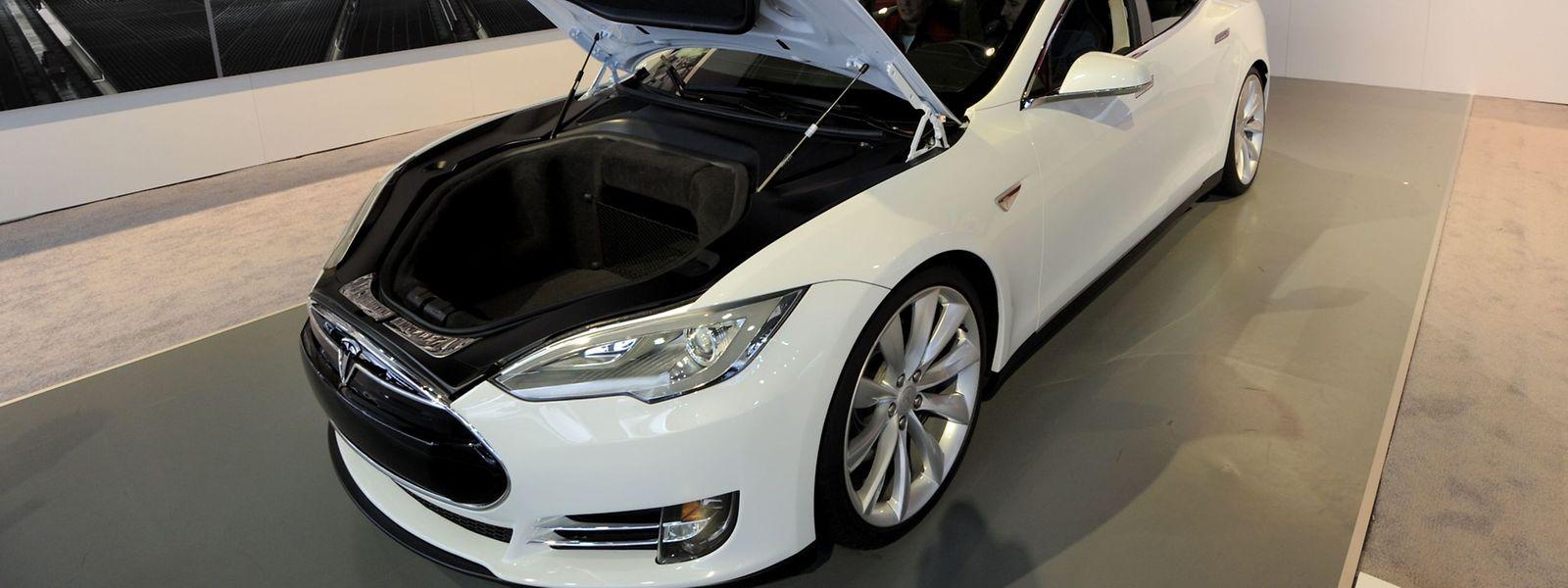 Das Tesla Model S.