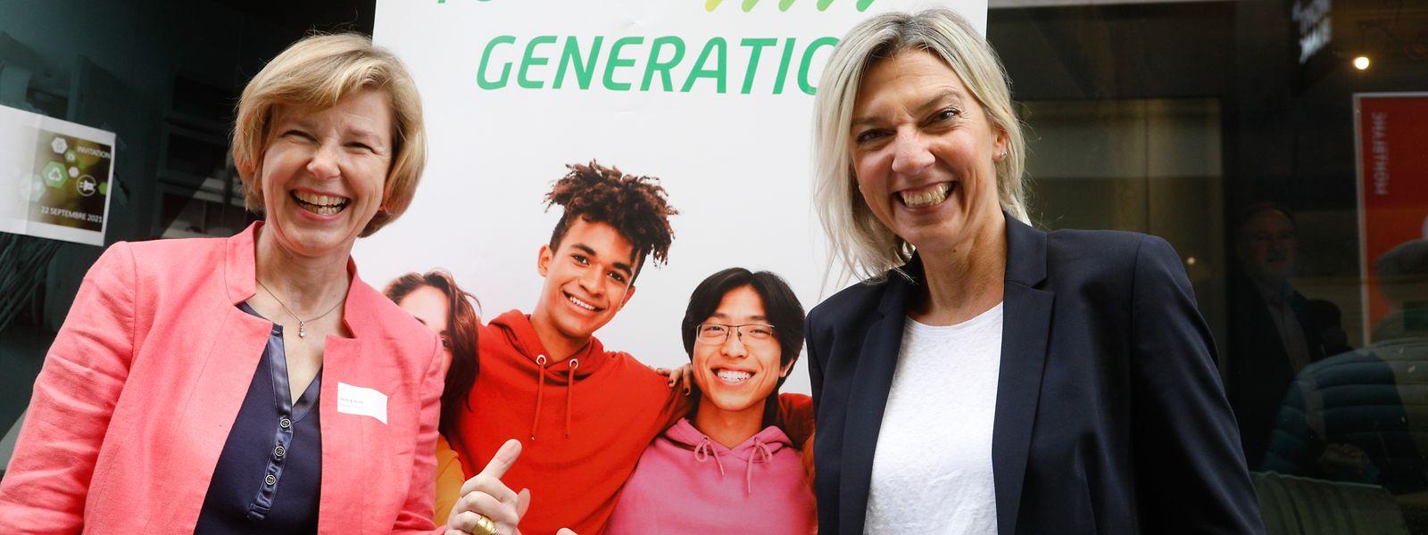 Ariane Toepfer (links) und Kristina Nincevic unterstützen Jugendliche auf dem Weg in die Arbeitswelt.