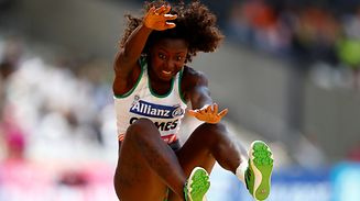 Athletics - IAAF World ParaAthletics Championships - London, Britain - July 17, 2017   Portugal's Erica Gomes in action during the Women's Long Jump T20 Final   Action Images via Reuters/Peter Cziborra
