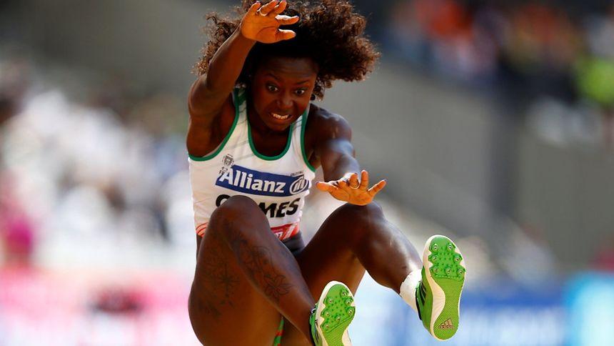 A atleta portuguesa Erica Gomes nos Mundiais de atletismo do Comité Paralímpico Internacional.