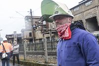 Lokales, Protestaktion, Roud Lens Projekt, Terres Rouges, IKO, Foto: Guy Wolff/Luxemburger Wort