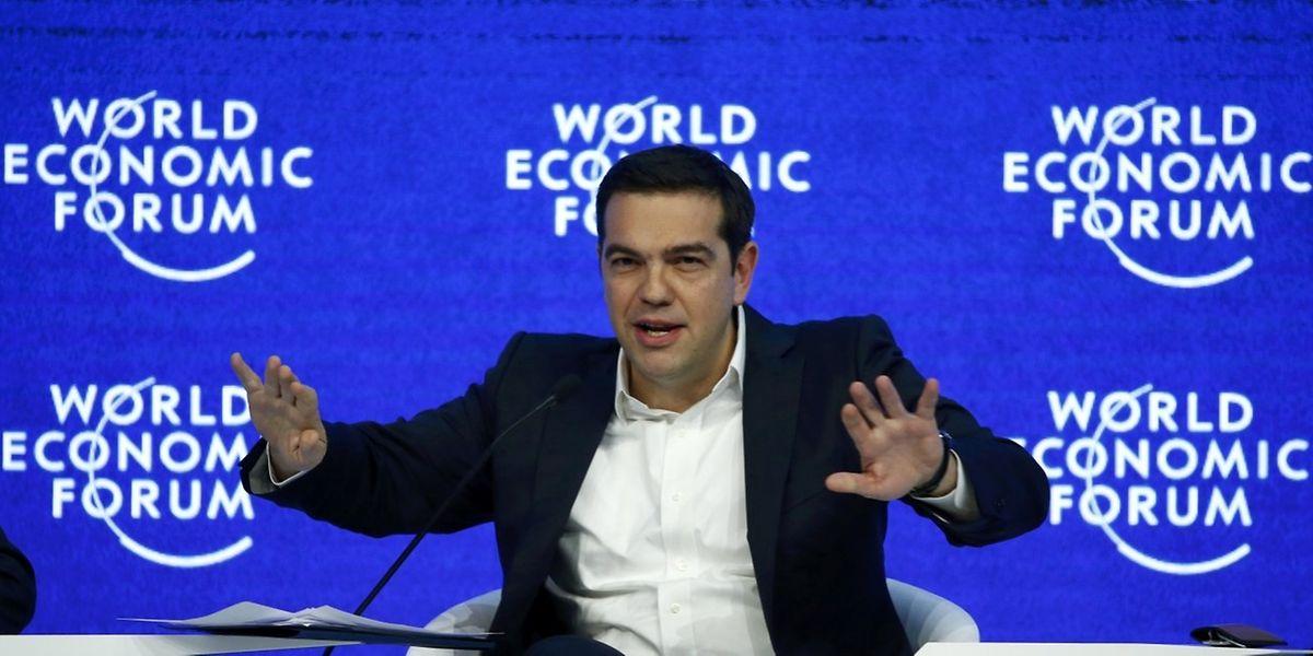 Le Premier ministre grec Alexis Tsipras à Davos, au meeting annuel du Forum économique mondial, le 21 janvier.