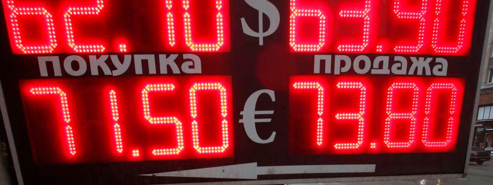 Die russische Wirtschaft schwächelt auch ohne die Sanktionen schon.