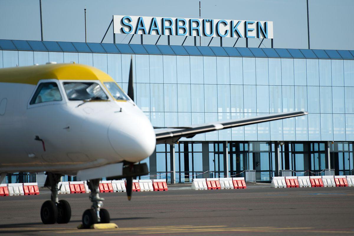 Ein Terminal des Flughafens Saarbrücken.