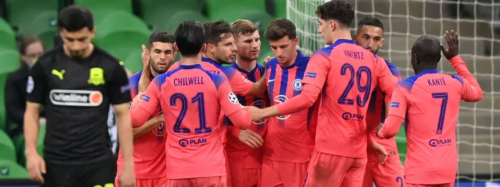 Die Spieler des FC Chelsea haben mit Krasnodar keine Mühe.