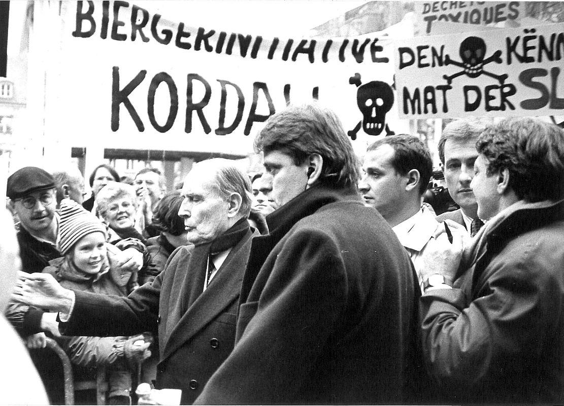 Des manifestants sont venus exprimer leur mécontentement à propos de la centrale nucléaire de Cattenom et d'un projet de décharge sur le sol lorrain.
