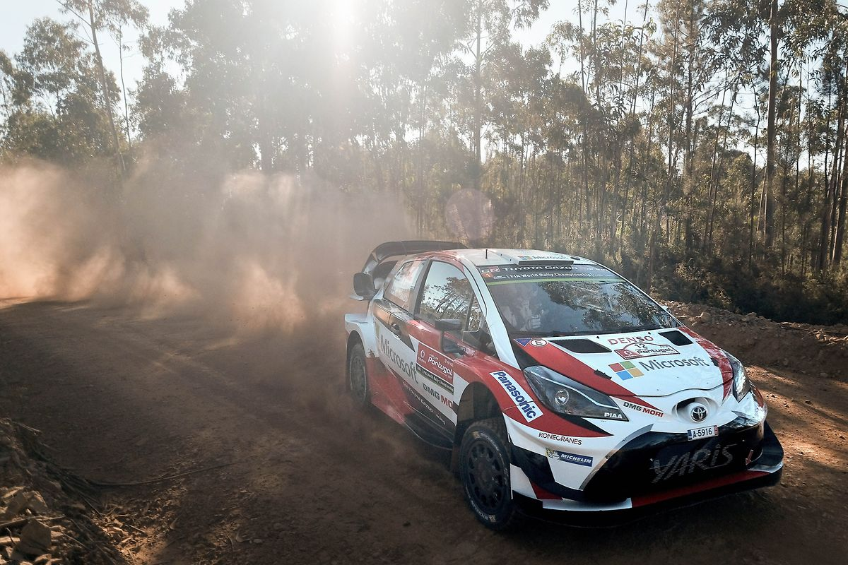 Esapekka Lappi of Finland driving his Toyota Yaris WRC during the Shakedown of the Rally of Portugal of the World Rally Championship (WRC) in Baltar, Portugal, 18 May 2017. The competition runs from 18th until 21th May. HUGO DELGADO/LUSA