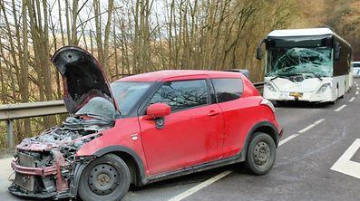 Verkehrsunfall zwischen Wiltz und Schumansneck / Foto: Roland ARENDT