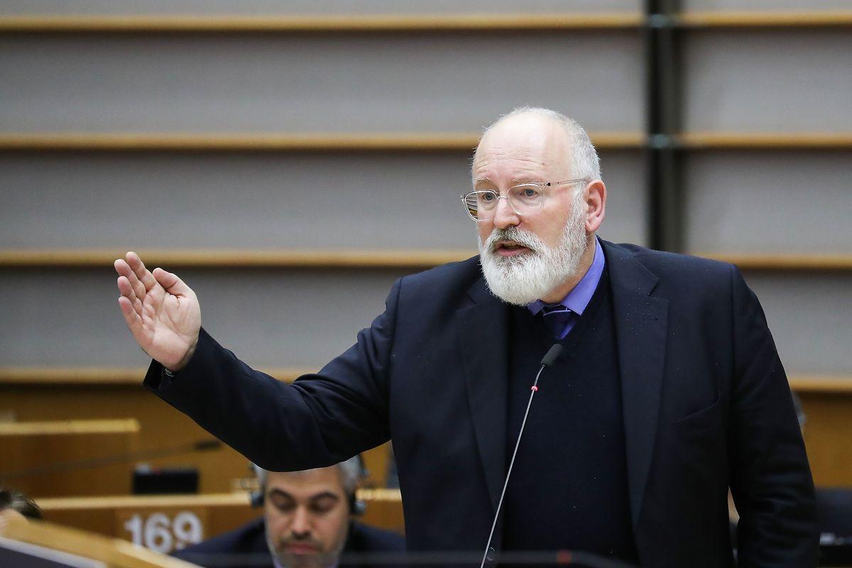 Le vice-président chargé du Climat, Frans Timmermans, a pris part à l'exposé.