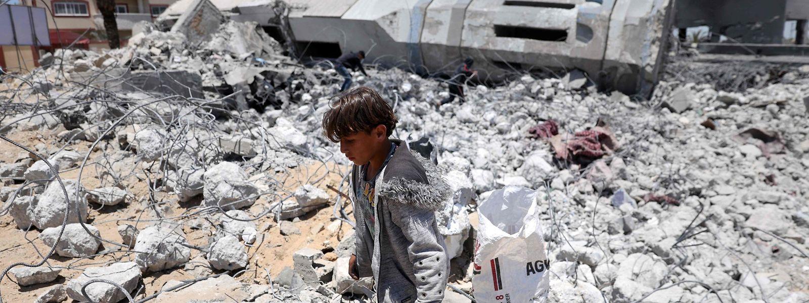 Ein Bild der Verwüstung im Gazastreifen.