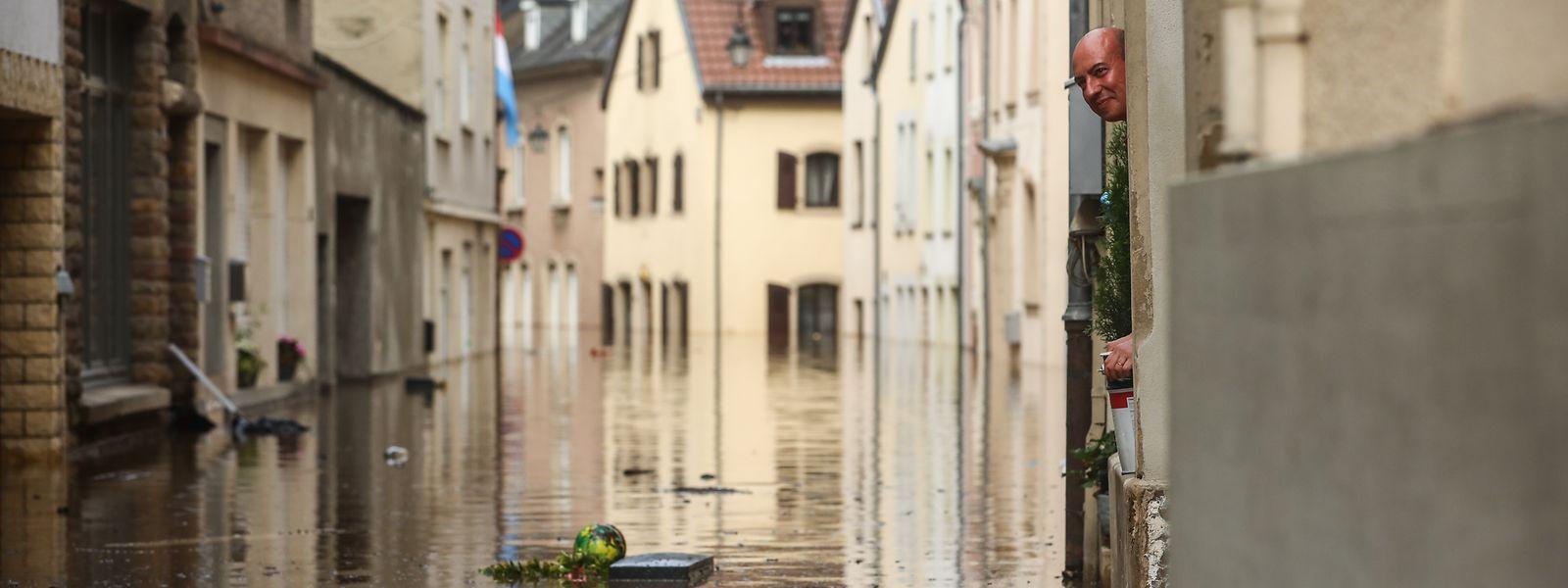 Große Teile von Echternach wurden vergangene Woche nach dem Dauerregen überschwemmt.