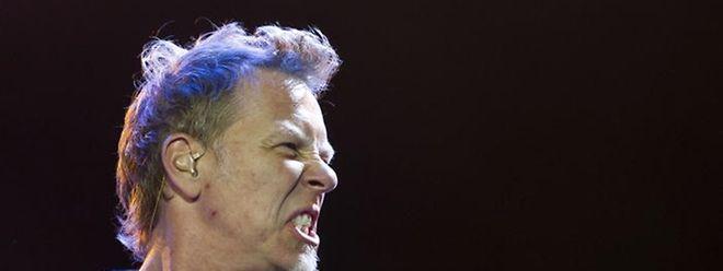 """""""Yeah...!"""", James Hetfield in typischer Pose."""