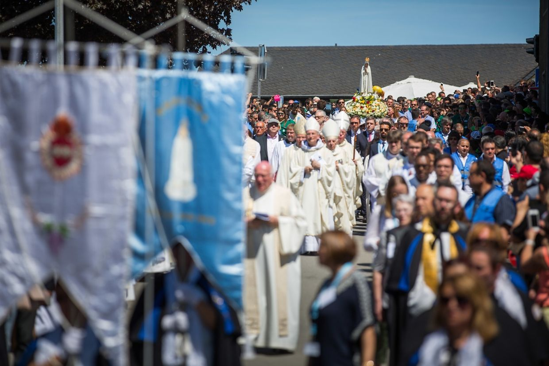 Zehntausende Gläubige nahmen an der Wallfahrt in Wiltz teil.