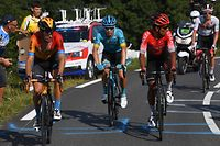 LOUDENVIELLE, FRANCE - SEPTEMBER 05: Mikel Landa Meana of Spain and Team Bahrain - Mclaren / Miguel Angel Lopez Moreno of Colombia and Astana Pro Team / Nairo Quintana Rojas of Colombia and Team Arkea - Samsic / during the 107th Tour de France 2020, Stage 8 a 141km stage from Cazères-Sur-Garonne to Loudenvielle / #TDF2020 / @LeTour / on September 05, 2020 in Loudenvielle, France. (Photo by Tim de Waele/Getty Images) / Foto: Getty Images