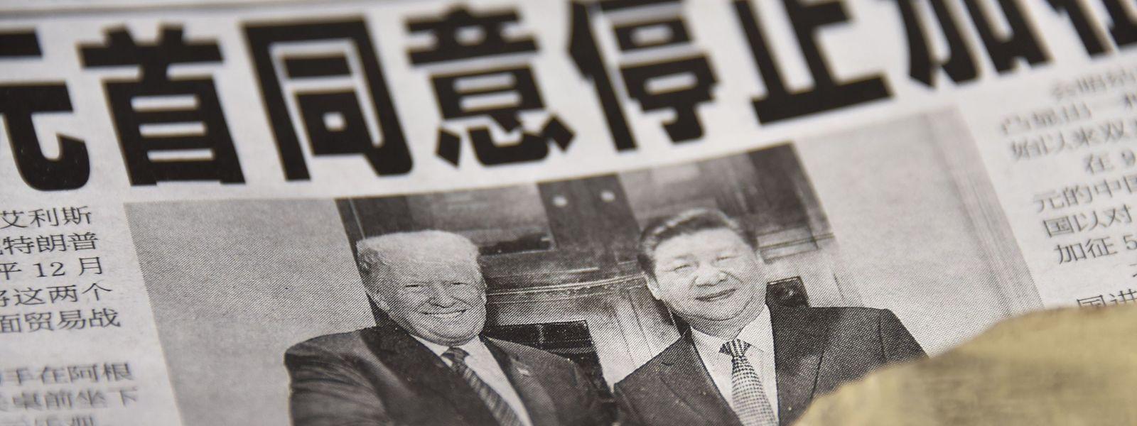 Auch in den chinesischen Zeitungen wird über die Annäherung zwischen USA und China berichtet.