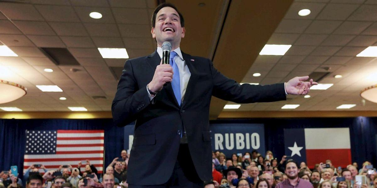Der republikanische Präsidentschaftskandidat Marco Rubio (hier in Houston, Texas am 24. Februar) entdeckte Luxemburg im Wahlkampf.