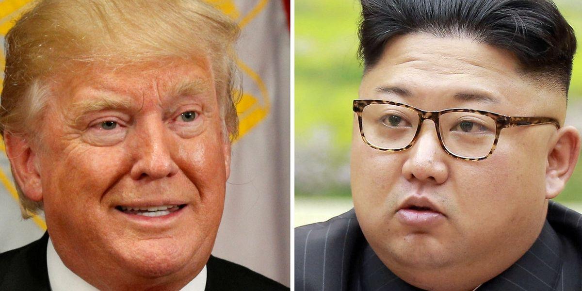 Donald Trump e Kim Jong Un.