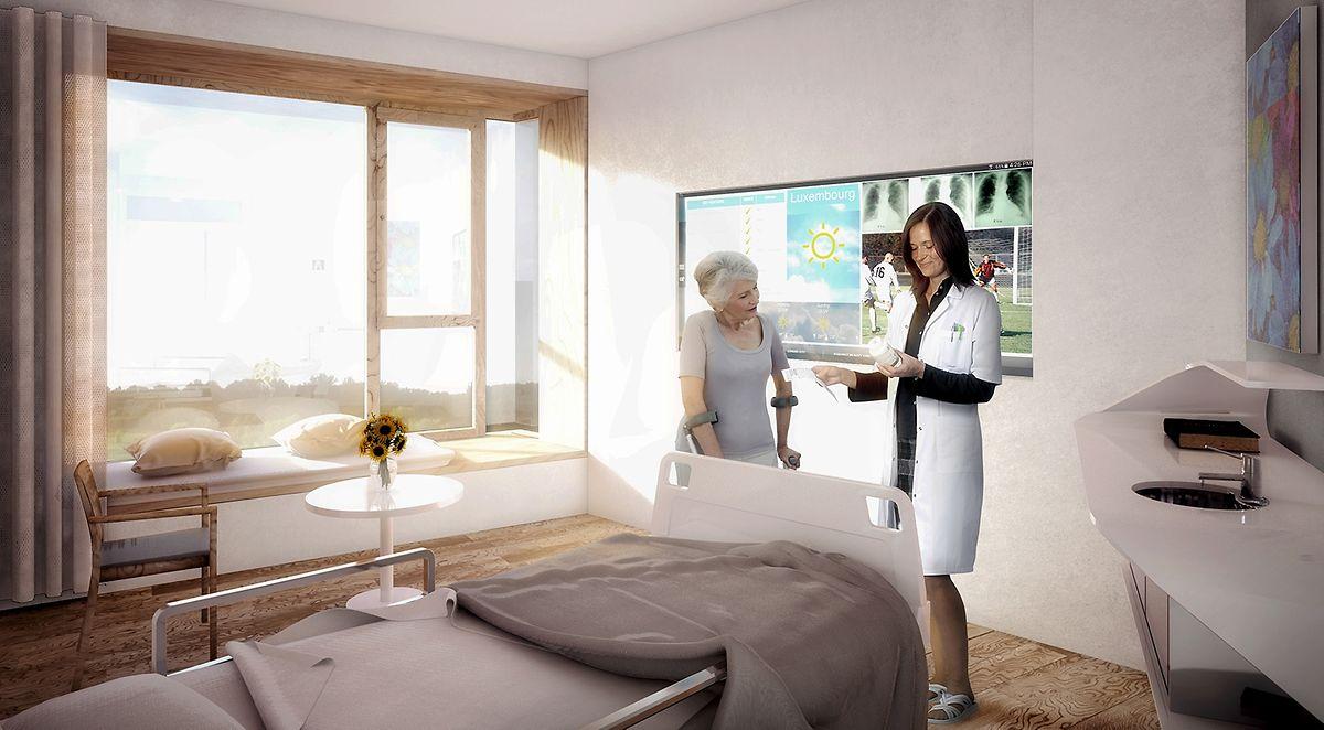 So könnte ein Zimmer aussehen. Die Fensterbank kann als Sitzplatz, aber auch als Schlafplatz für einen Familienangehörigen benutzt werden.