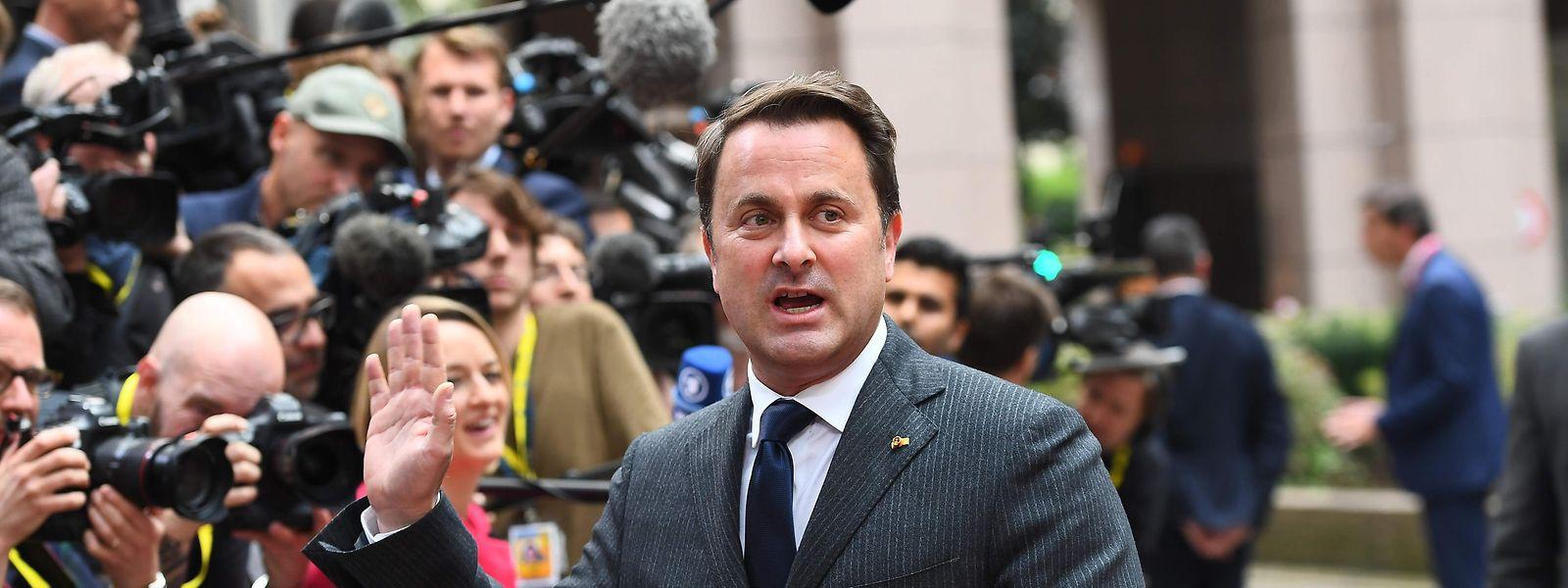 Premier Xavier Bettel sieht sich als Vertreter Luxemburgs in Sachen Unternehmensbesteuerung nicht unter Druck.