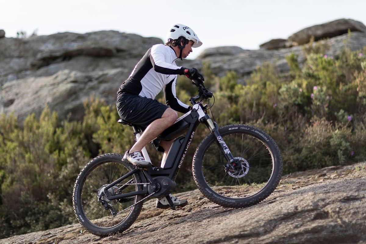 Doppelpack: Das elektrische Mountainbike «Delite Mountain» nutzt zwei Akkus für mehr Reichweite.