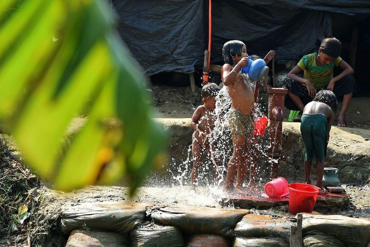 Un camp de réfugiés Rohingya au Bangladesh