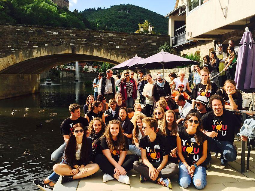 Ce jour-là, les jeunes Luxembourgeois et les réfugiés ont passé une journée ensemble à Vianden