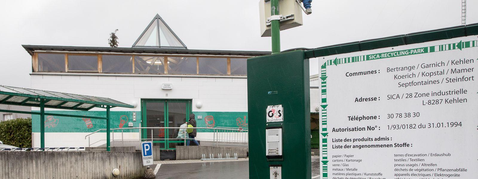 Das Recyclingcenter in Kehlen.