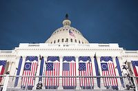 WASHINGTON, DC - JANUARY 20: American flags adorn on the West Front of the U.S. Capitol on inauguration day January 20, 2017 in Washington, DC. In today?'s inauguration ceremony Donald J. Trump becomes the 45th president of the United States.   Scott Olson/Getty Images/AFP