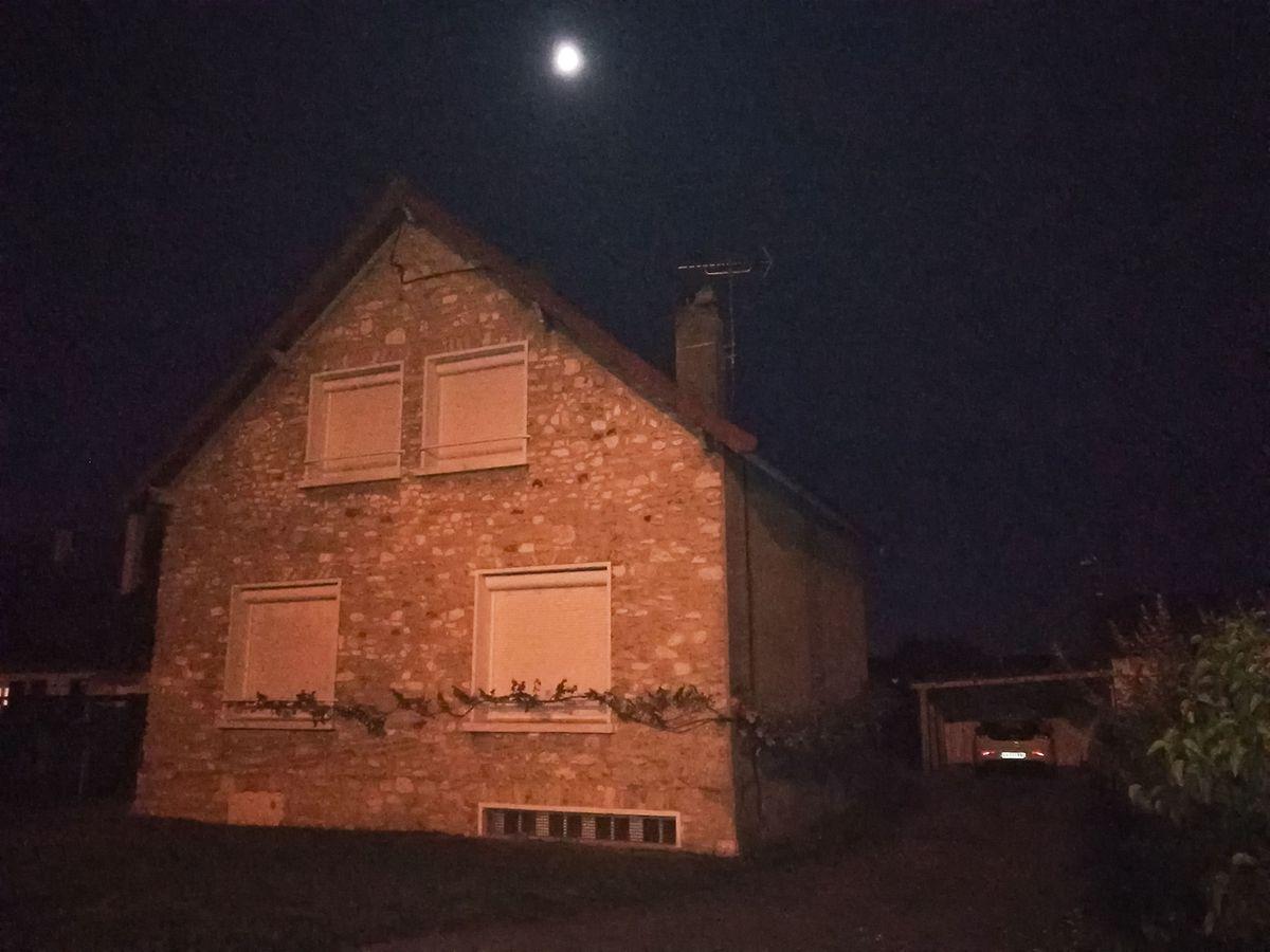 A casa de Guy João onde a polícia fez buscas.