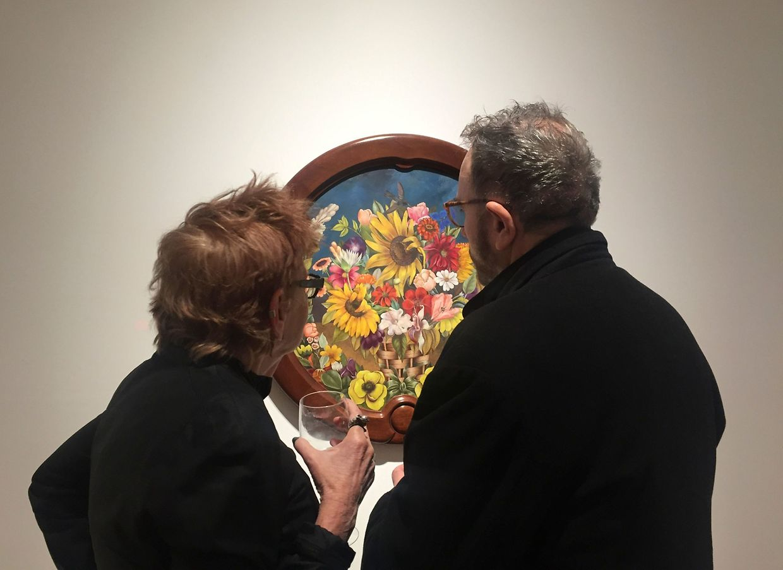 """New York. """"The Flower Basket"""" (1941) von Frida Kahlo (1907-1954) ist eines der Kunstwerke der Mexikanerin, das bei Christie's unter den Hammer kommt. Ob es dann seinem zwischen 3 und 5 Millionen Dollar geschätzten Verkaufspreis wohl übertrifft?"""