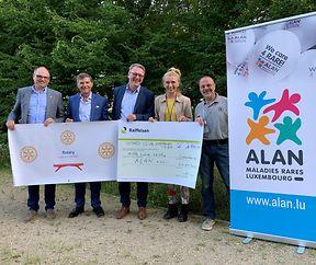 Rotary Club Luxembourg-Kiem spent fir rar Krankheeten